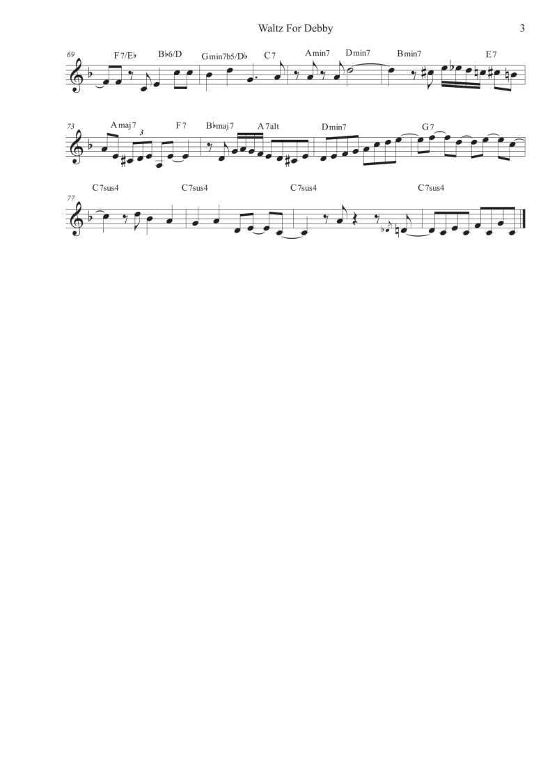 Waltz For Debby - Score-3